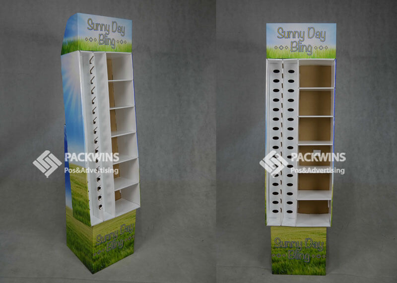 Summer Series Products Corrugated Pegboard Shoe Display