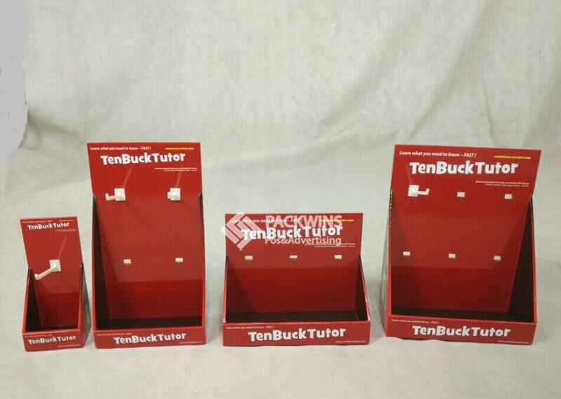 TenBuckTutor Cardboard Counter Display With Hooks