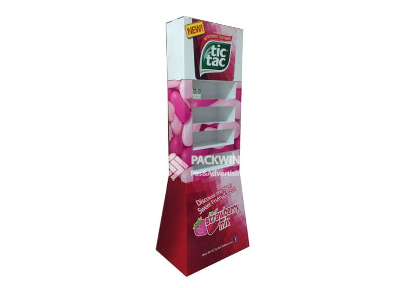 Tictac Strawberry Taste Double Sided Retail Pop Displays