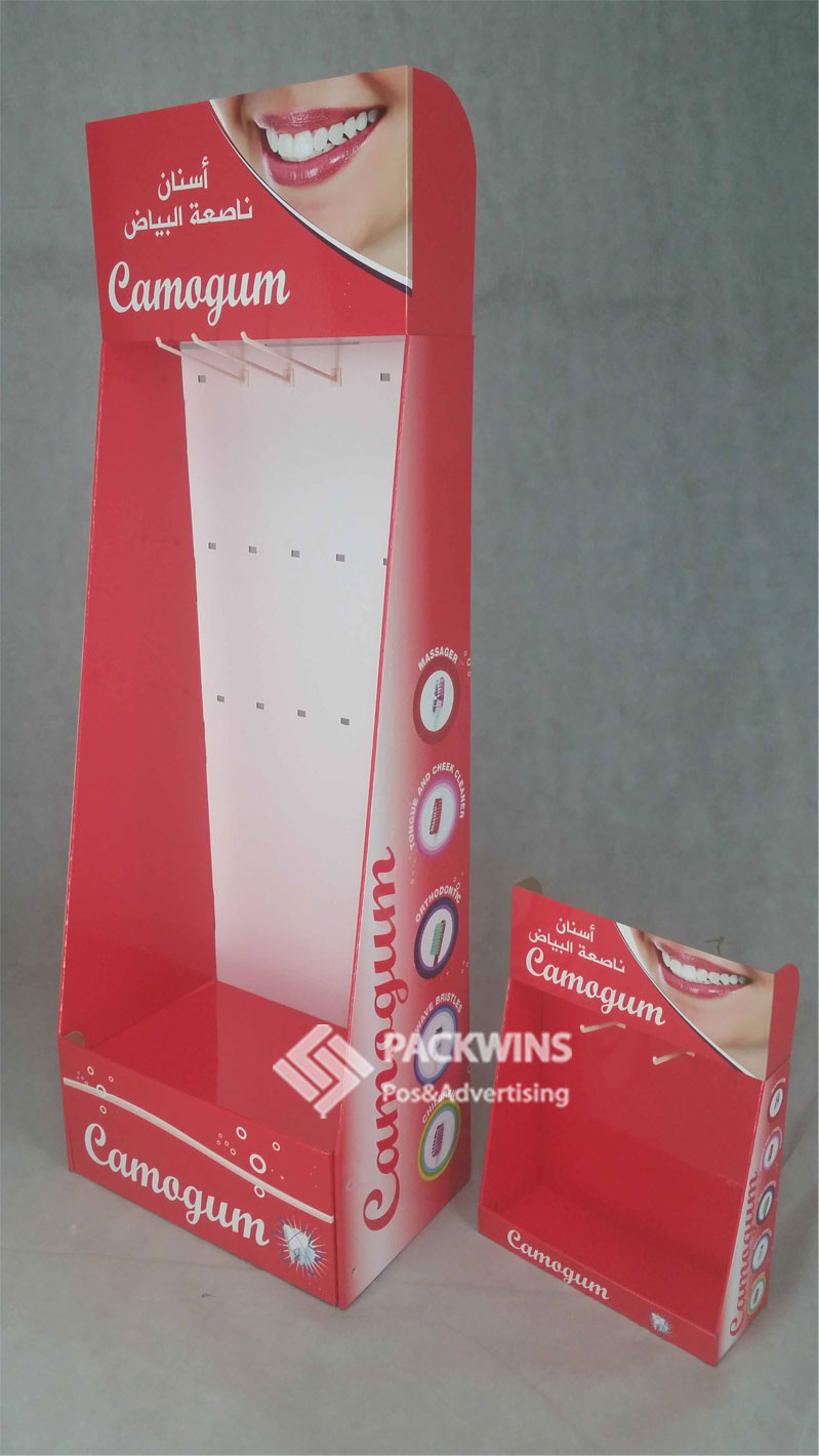 Toothpast Custom Counter Cardboard Display Stands