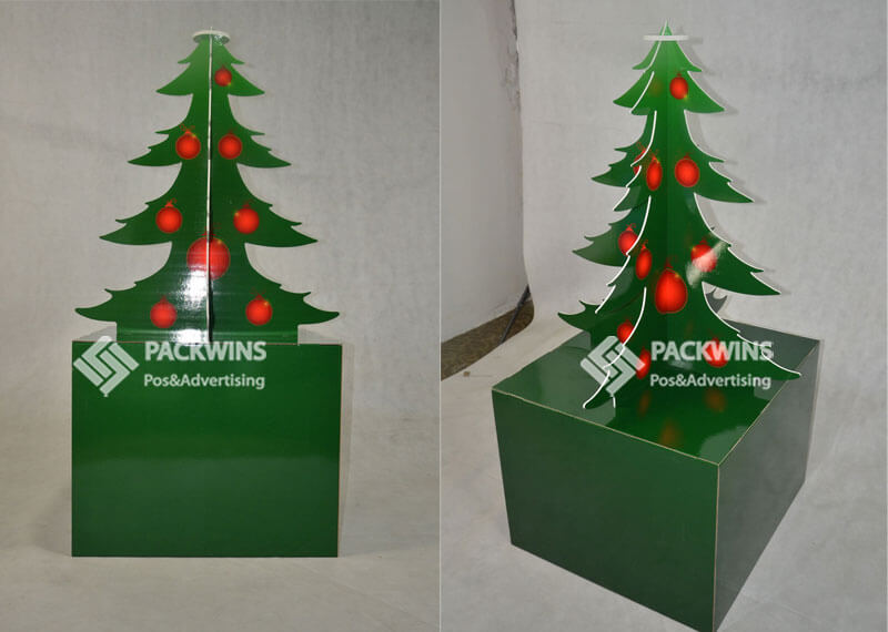 Tree Shaped Point Of Purchase Display Boxes For Drinks