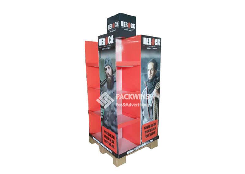 Workwear 4 Sides Cardboard Pallet Display