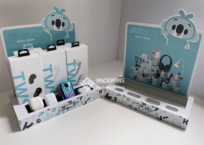 TWS Bluetooth Earplugs Poing of Sale Counter Cardboard Display (2)